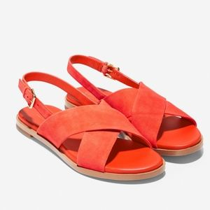 Cole Haan Fernanda Grand Coral Orange Sandal